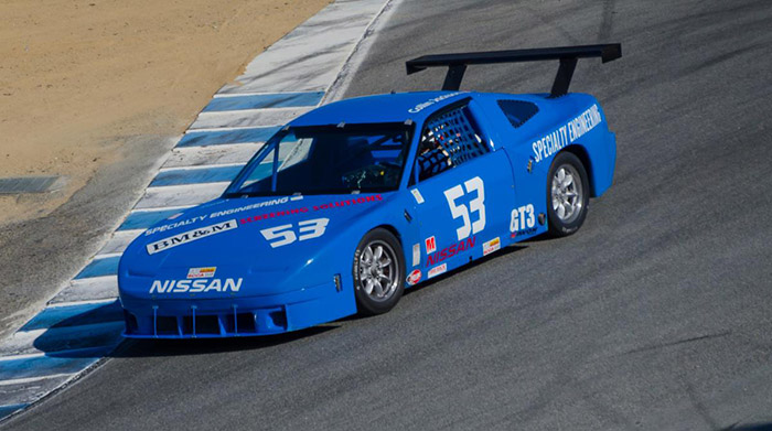 240sx number 53 blue race car
