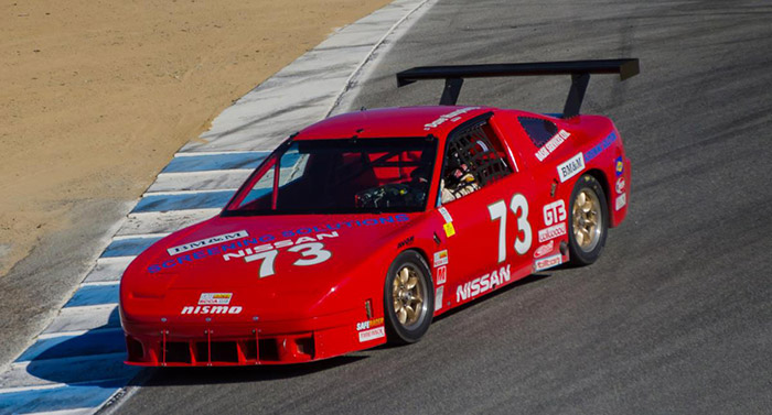240sx number 73 red race car