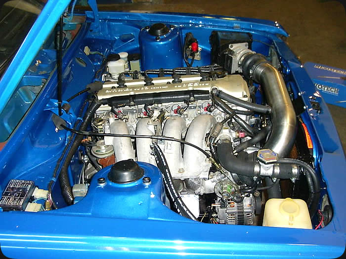 Specialty Engineering custom street cars Datsun 510 engine swap with Nissan KA24 16 valve engine image 2