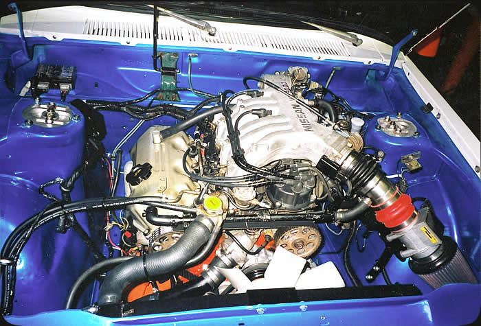 Specialty Engineering custom street car engine swap in Datsun 510 with Nissan 300ZX V6 engine