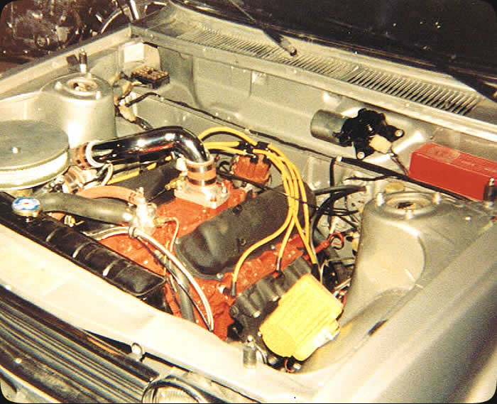 Specialty Engineering street car customization Datsun 510 engine swap with Ford 2.8 V6 vintage photo from 80's