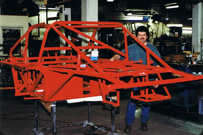 custom race car chassis panel assembly