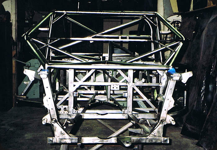powder coating preparation of race car chassis